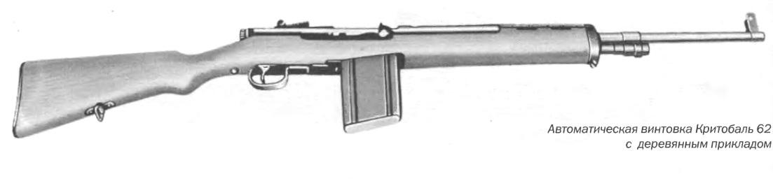 Автоматическая винтовка кристобаль 62