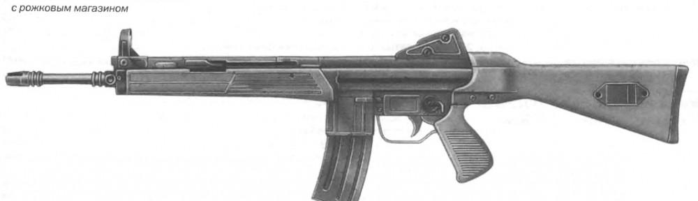 Автоматическая винтовка CETME L с рожковым магазином