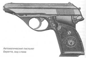 Автоматический пистолет Беретта, вид слева