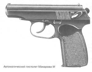 Автоматический пистолет Макарова М, калибр 9,2 мм