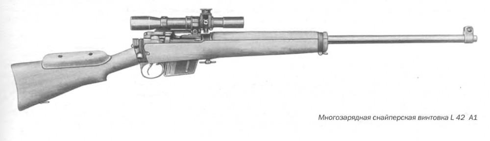 Многозарядная снайперская винтовка L 42 А1, калибр 7,62 мм