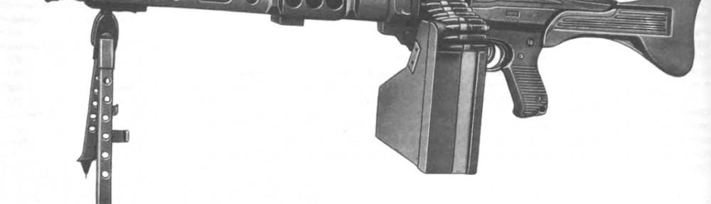Универсальный пулемет CETME Амели с ящиком с лентами на 200 патронов