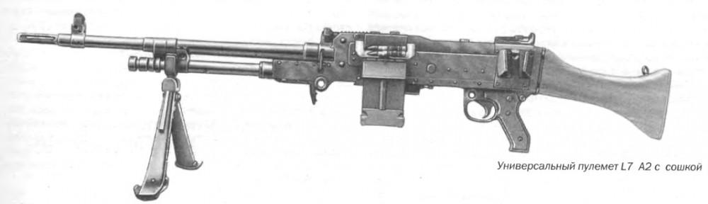 Универсальный пулемет L7 A2 с сошкой