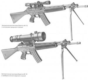 Автоматическая винтовка Беретта AR 70 с оптикой