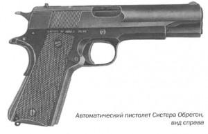 Автоматический пистолет Систера Обрегон, вид справа