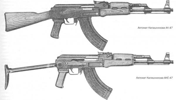 Автомат системы Калашникова АК 47 и его версии АКМ и АКМС, калибр 7,62 мм