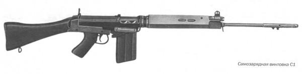 Самозарядные винтовки C1 и C1 A1, калибр 7,62 мм